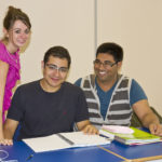 General English courses - Happy students with their dedicated teacher