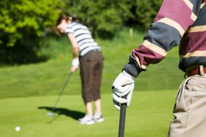 English plus Golf in London - student enjoying Golf after classes