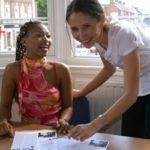 Au pair English courses North London - au pair student with her teacher